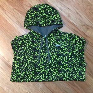 Nike neon printed hoodie